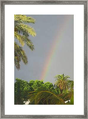 Framed Print featuring the photograph Rainbow Bermuda by Photographic Arts And Design Studio