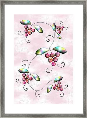 Rainbow Berries Framed Print by Anastasiya Malakhova