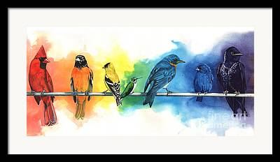 Bluebirds Framed Prints