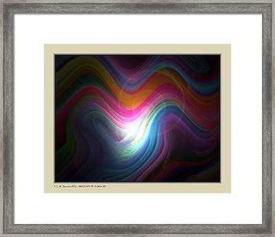 Framed Print featuring the digital art Rainbow Birth by Pedro L Gili