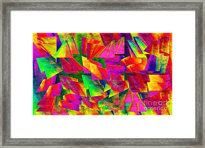 Rainbow Bliss 2 - Twisted - Painterly H Framed Print by Andee Design