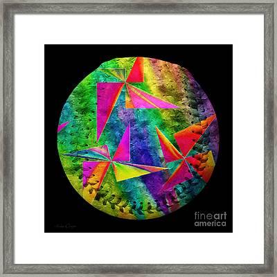 Rainbow Bliss Pinwheels Baseball Square Framed Print by Andee Design