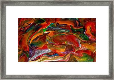 Rainbow Blossom Framed Print