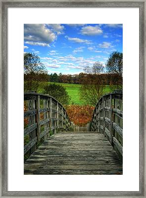 Rainbow Bridge Brasstown Nc Framed Print