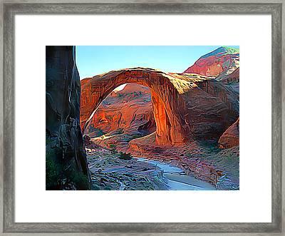 Rainbow Bridge National Monument Framed Print by Wernher Krutein