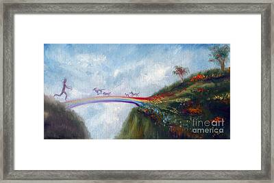 Rainbow Bridge Framed Print by Stella Violano
