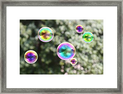 Rainbow Bubbles Framed Print by Suzi Nelson