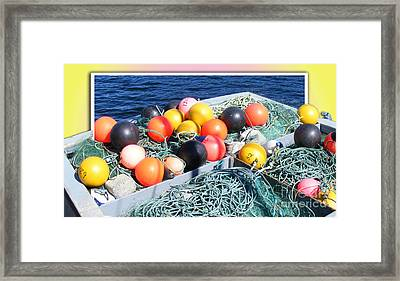 Rainbow Buoys Framed Print by Barbara Griffin