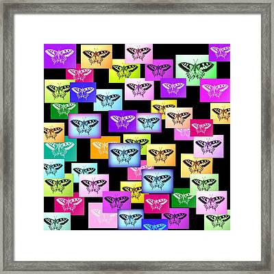 Rainbow Butterflies Framed Print by Cathy Jacobs