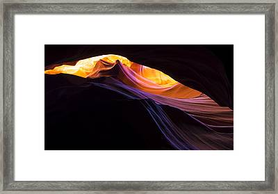 Rainbow Canyon Framed Print