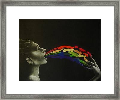 Rainbow Framed Print by Carin Billings