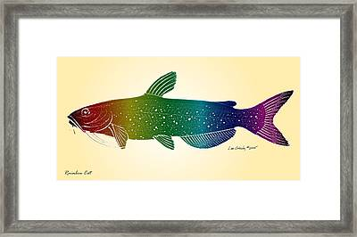 Rainbow Cat Framed Print