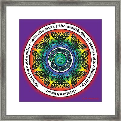 Rainbow Celtic Butterfly Mandala Framed Print