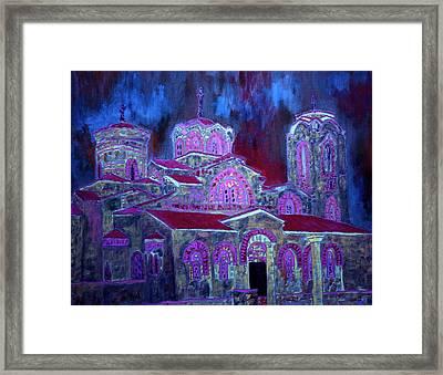 Rainbow Church  Framed Print