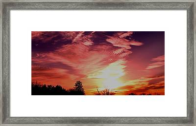 Framed Print featuring the photograph Rainbow Clouds by Candice Trimble