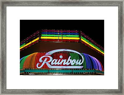 Rainbow Club Neon Framed Print
