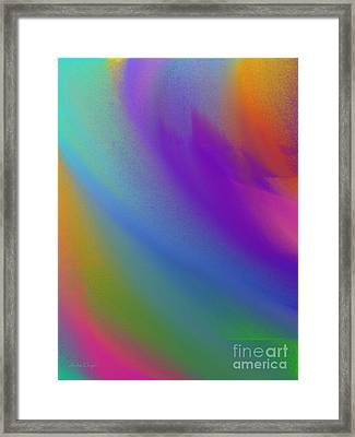 Rainbow Color Wave Abstract Framed Print