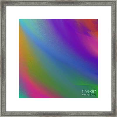 Rainbow Color Wave Abstract Square Framed Print