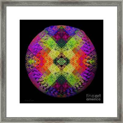 Rainbow Connection Baseball Square Framed Print by Andee Design