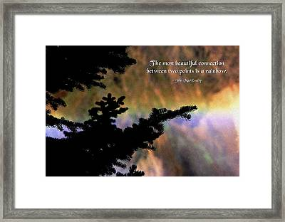 Rainbow Connection Framed Print by Mike Flynn