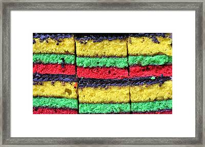 Rainbow Cookies Framed Print by JC Findley