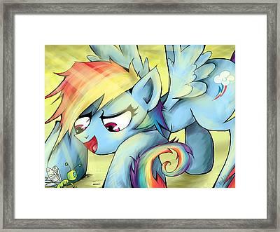 Rainbow Dash Framed Print by Sarah Bavar