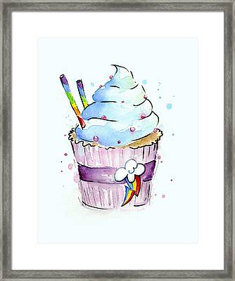 Rainbow-dash-themed Cupcake Framed Print