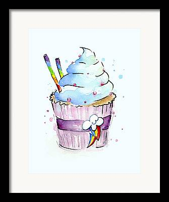 Cupcake Art Framed Prints