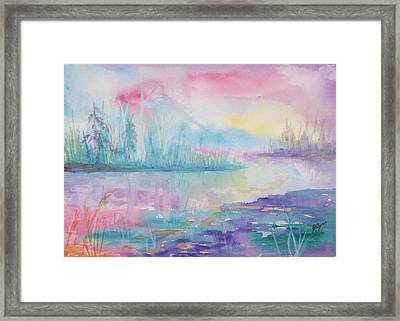 Rainbow Dawn Framed Print