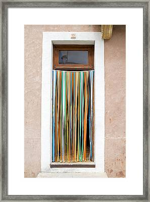 Rainbow Door Framed Print