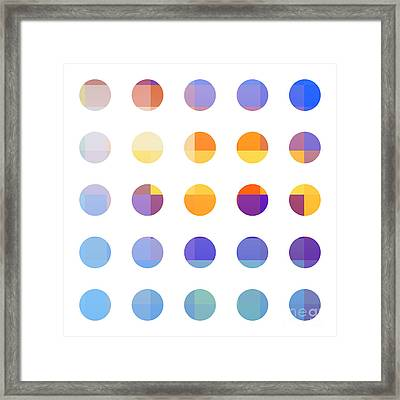 Rainbow Dots  Framed Print