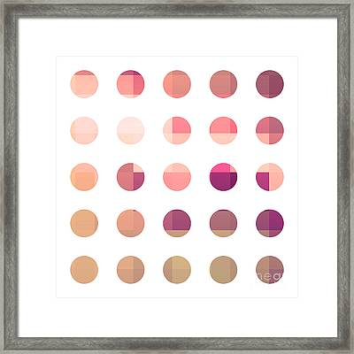 Rainbow Dots Rose Framed Print by Pixel Chimp
