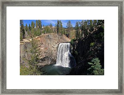 Rainbow Falls At Mammoth Lakes Framed Print by Donna Kennedy