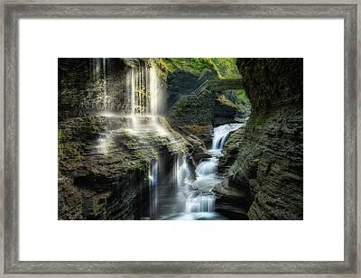 Rainbow Falls Framed Print by Bill Wakeley