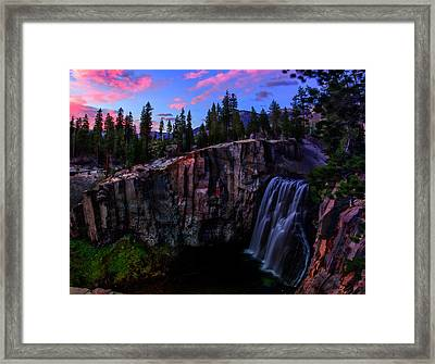 Rainbow Falls Devil's Postpile National Monument Framed Print by Scott McGuire