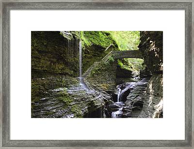Rainbow Falls Framed Print by Gene Walls