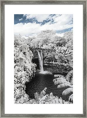 Rainbow Falls In Infrared 1 Framed Print