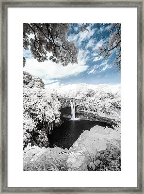 Rainbow Falls In Infrared 4 Framed Print