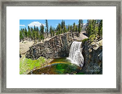 Rainbow Falls In Mammoth Lakes California Framed Print