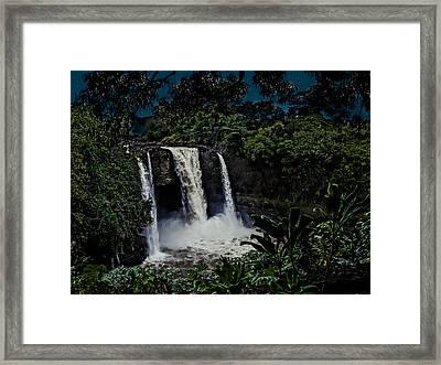 Framed Print featuring the photograph Rainbow Falls by Randy Sylvia