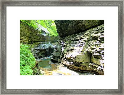 Rainbow Falls Framed Print by Sarah Donald
