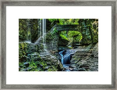 Rainbow Falls Watkins Glen Framed Print