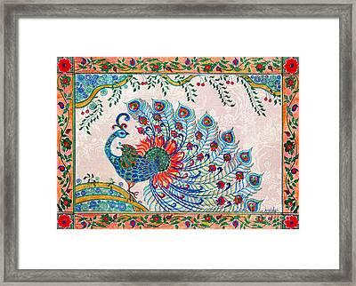 Rainbow Feathers Framed Print by Anjali Vaidya