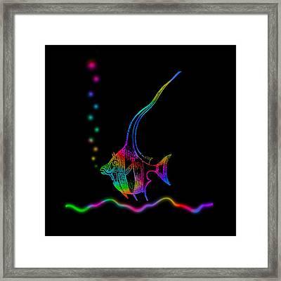Rainbow Fish - Chaetodon Besantii Framed Print
