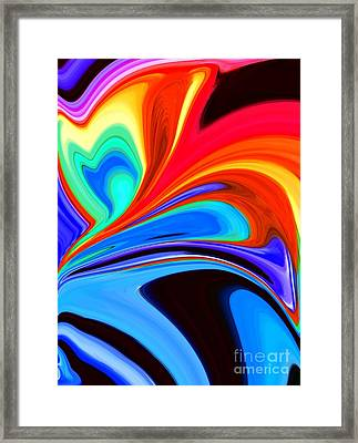 Rainbow Flare Framed Print by Chris Butler