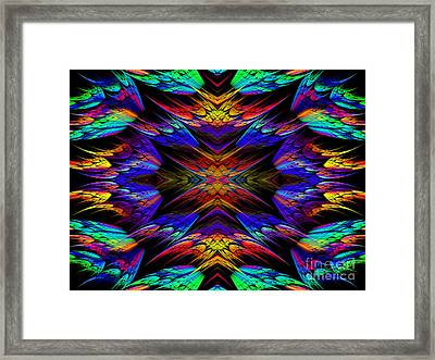 Rainbow Flyers Framed Print by Andee Design