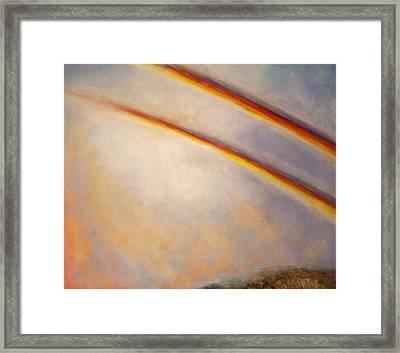 Rainbow For Grace Framed Print
