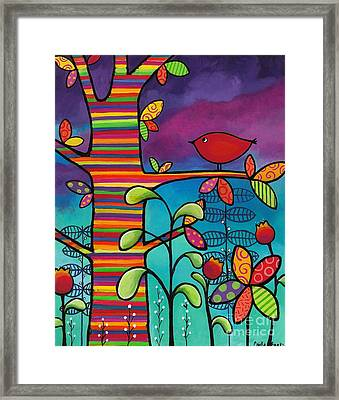 Rainbow Forest Framed Print by Carla Bank