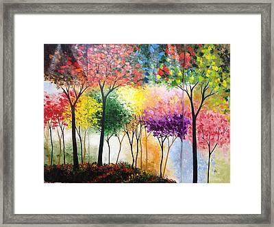 Rainbow Forest Framed Print by Shilpi Singh
