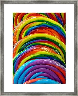 Rainbow Giant Lollipop Framed Print